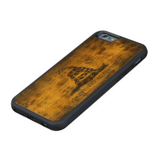 Vintage Grunge Don't Tread On Me Flag Carved Cherry iPhone 6 Bumper Case