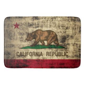 Vintage Grunge Flag of California Republic Bath Mat