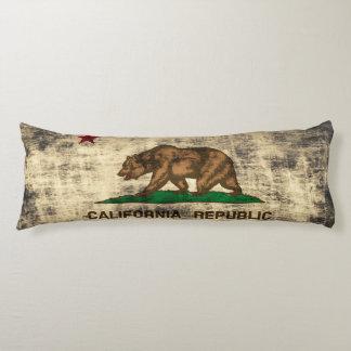 Vintage Grunge Flag of California Republic Body Pillow