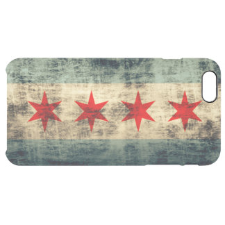 Vintage Grunge Flag of Chicago Clear iPhone 6 Plus Case