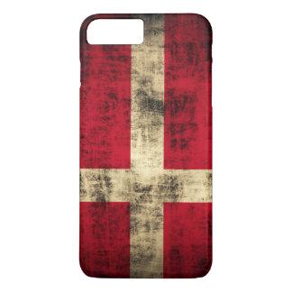 Vintage Grunge Flag of Denmark iPhone 7 Plus Case