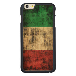 Vintage Grunge Flag of Italy Carved® Maple iPhone 6 Plus Case