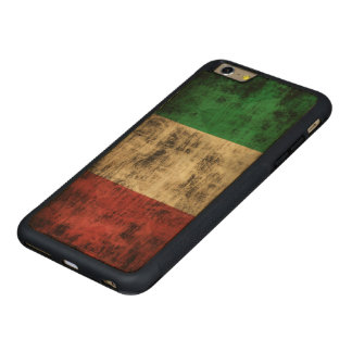 Vintage Grunge Flag of Italy Carved® Maple iPhone 6 Plus Bumper