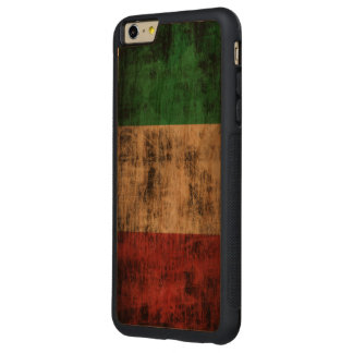 Vintage Grunge Flag of Italy Carved® Cherry iPhone 6 Plus Bumper Case