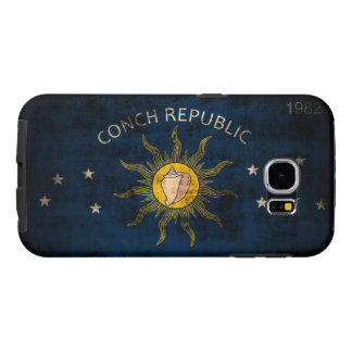 Vintage Grunge Flag of Key West Florida Samsung Galaxy S6 Cases