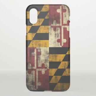 Vintage Grunge Flag of Maryland iPhone X Case