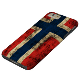 Vintage Grunge Flag of Norway Tough iPhone 6 Plus Case
