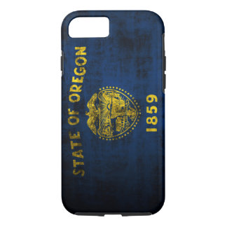 Vintage Grunge Flag of Oregon iPhone 7 Case