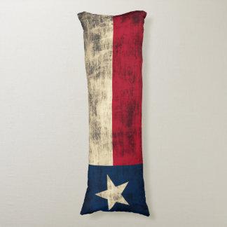 Vintage Grunge Flag of Texas Body Pillow