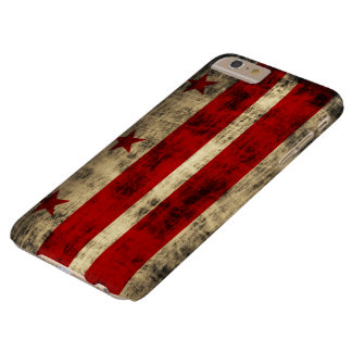 Vintage Grunge Flag of Washington D.C. Barely There iPhone 6 Plus Case