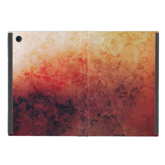 Vintage Grunge Floral Fire Red Faded Roses Artsy iPad Mini Covers