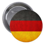 Vintage Grunge Germany Flag Deutschland Flag 7.5 Cm Round Badge