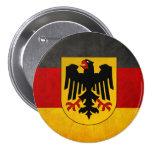 Vintage Grunge Germany Flag Deutschland Flag Buttons