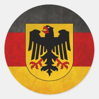 Vintage Grunge Germany Flag Deutschland Flag Classic Round Sticker