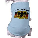 Vintage Grunge Germany Flag Deutschland Flag Sleeveless Dog Shirt