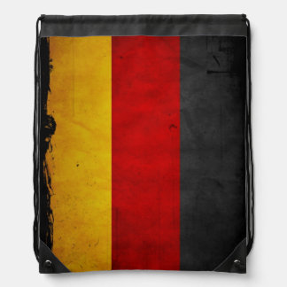 Vintage Grunge Germany Flag Drawstring Bag