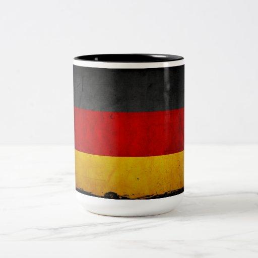 Vintage Grunge Germany Flag Mugs
