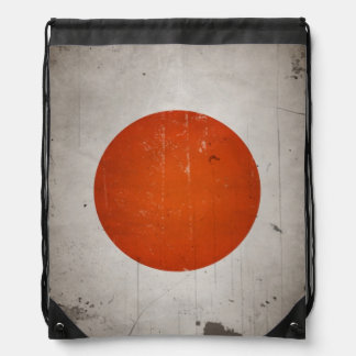 Vintage Grunge Japan Japanese Flag Drawstring Bag
