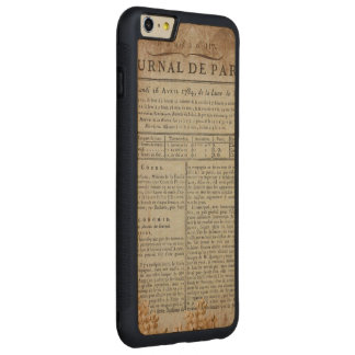 Vintage Grunge Journal Page Carved® Maple iPhone 6 Plus Bumper Case