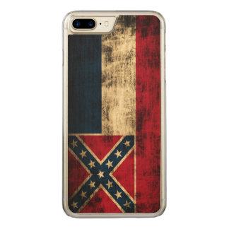 Vintage Grunge Mississippi Flag Carved iPhone 8 Plus/7 Plus Case