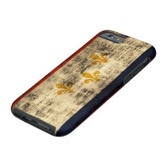 Vintage Grunge New Orleans Flag Tough iPhone 6 Case