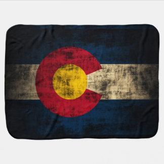 Vintage Grunge Patriotic Flag of Colorado Baby Blanket