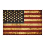 Vintage Grunge Patriotic USA American Flag