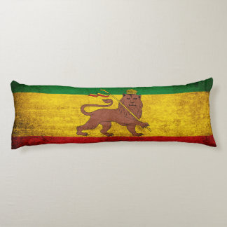 Vintage Grunge Rastafarian Flag Body Cushion