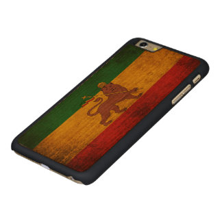 Vintage Grunge Rastafarian Flag Carved Cherry iPhone 6 Plus Case