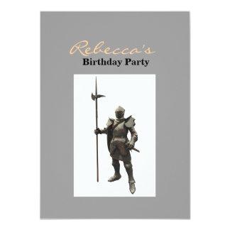 Vintage grunge renaissance medieval Knight 11 Cm X 16 Cm Invitation Card