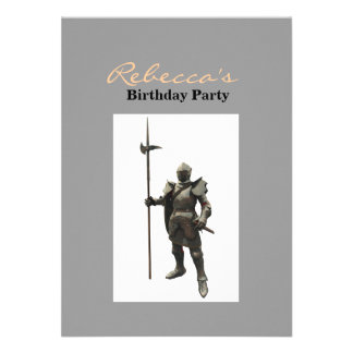 Vintage grunge renaissance medieval Knight Invites