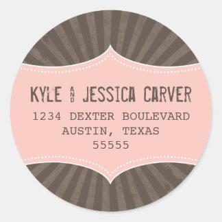 Vintage Grunge Return Address Label Template Sticker