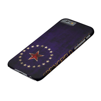 Vintage Grunge Springfield Illinois Flag Barely There iPhone 6 Case