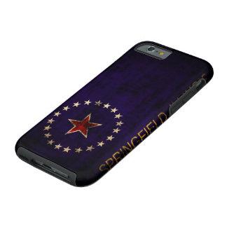 Vintage Grunge Springfield Illinois Flag Tough iPhone 6 Case