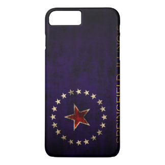 Vintage Grunge Springfield Illinois Flag iPhone 7 Plus Case