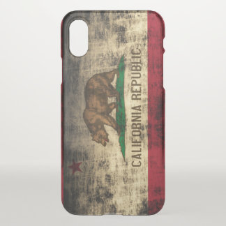 Vintage Grunge State Flag of California Republic iPhone X Case