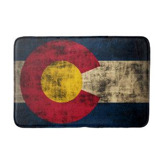 Vintage Grunge State Flag of Colorado Bath Mats