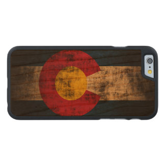 Vintage Grunge State Flag of Colorado Carved Cherry iPhone 6 Case