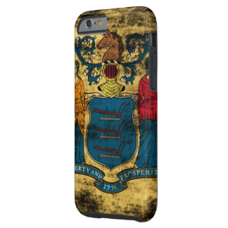 Vintage Grunge State Flag of New Jersey Tough iPhone 6 Case