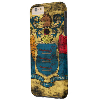 Vintage Grunge State Flag of New Jersey Tough iPhone 6 Plus Case