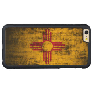 Vintage Grunge State Flag of New Mexico Carved® Maple iPhone 6 Plus Bumper Case