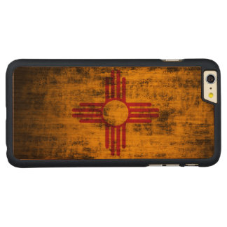 Vintage Grunge State Flag of New Mexico Carved® Cherry iPhone 6 Plus Slim Case