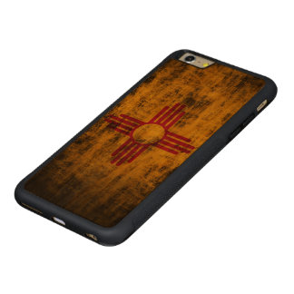 Vintage Grunge State Flag of New Mexico Carved® Cherry iPhone 6 Plus Bumper Case