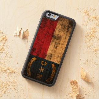 Vintage Grunge State Flag of North Carolina Cherry iPhone 6 Bumper Case