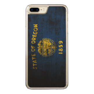 Vintage Grunge State Flag of Oregon Carved iPhone 7 Plus Case