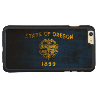 Vintage Grunge State Flag of Oregon Carved® Maple iPhone 6 Plus Case