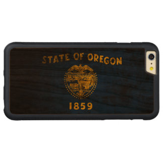 Vintage Grunge State Flag of Oregon Carved® Cherry iPhone 6 Plus Bumper Case
