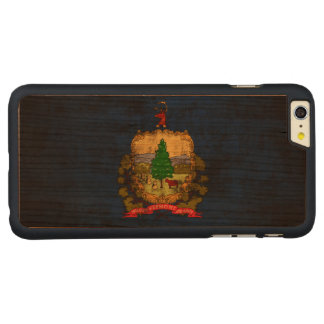 Vintage Grunge State Flag of Vermont Carved® Cherry iPhone 6 Plus Case