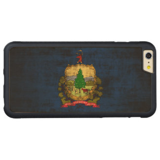 Vintage Grunge State Flag of Vermont Carved® Maple iPhone 6 Plus Bumper Case
