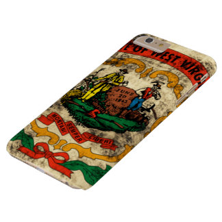 Vintage Grunge State Flag of West Virginia Barely There iPhone 6 Plus Case